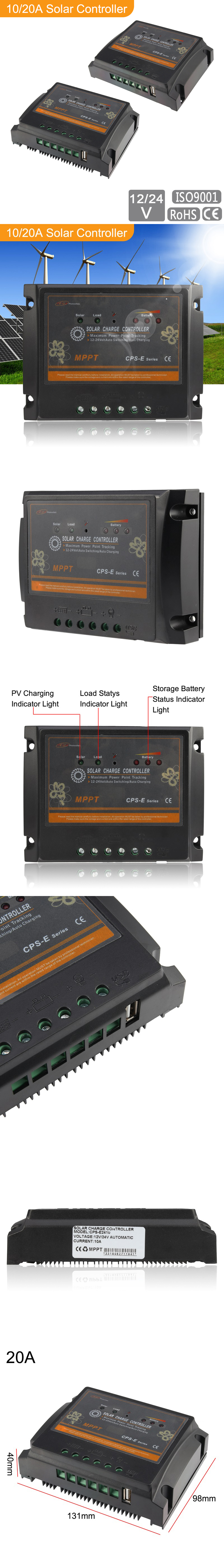 Mppt Solar Panel Regulator Charge Controller 10 20a Cps Specifics Features