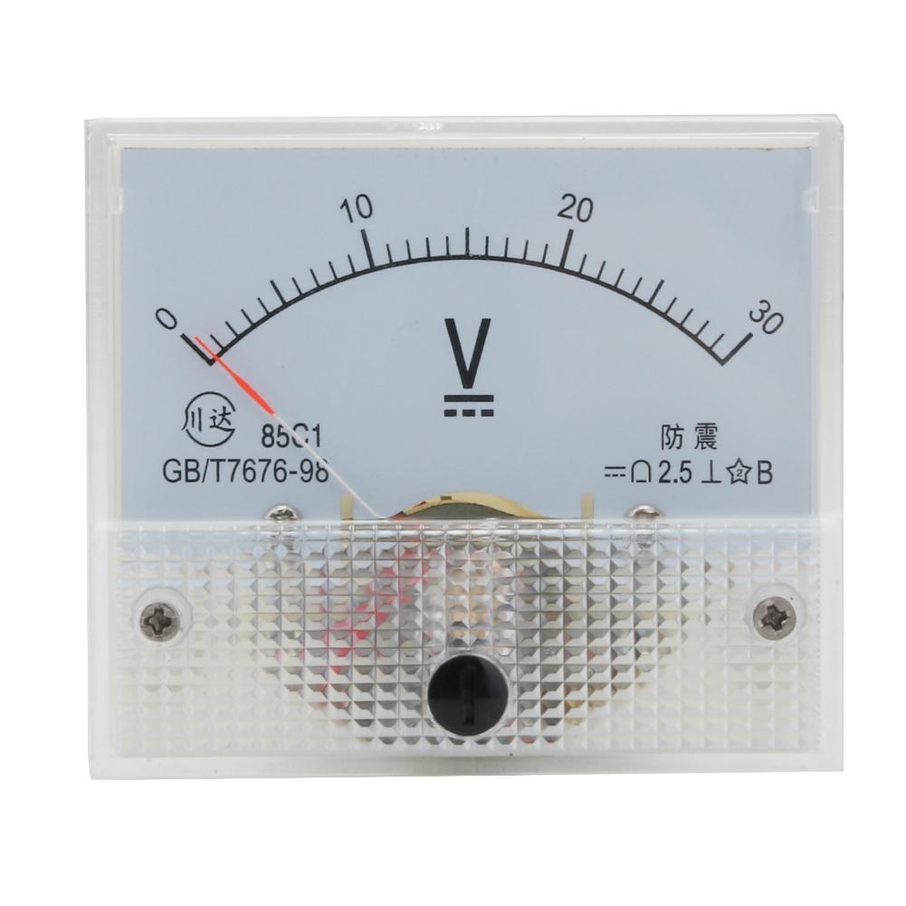 Analog Panel Meter Voltmeter Volts DC DC30V 0-30V Class 2.5 Plastic