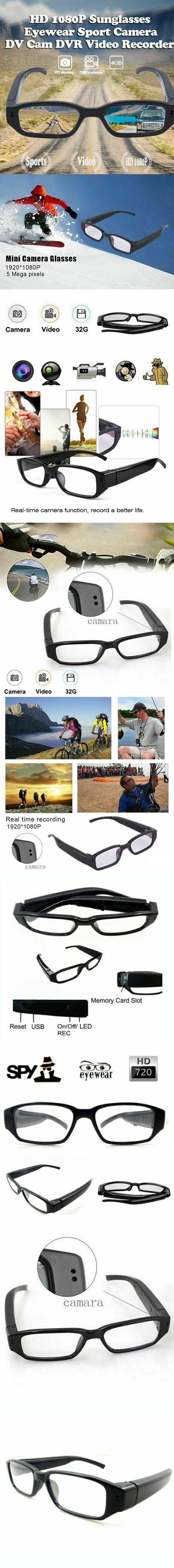 Mini HD 720P Spy Camera Glasses Hidden Eyewear DVR Video Recorder Cam Camcord GA