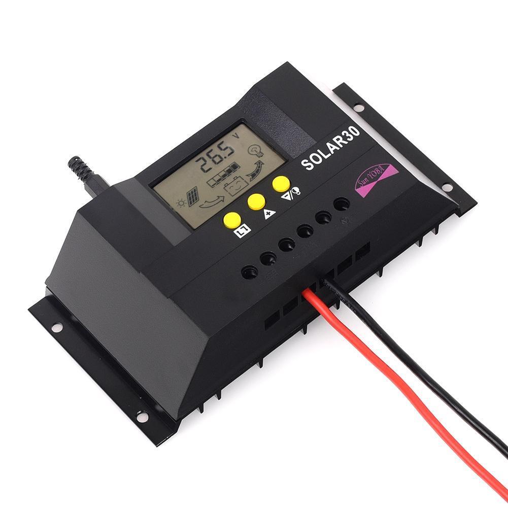 30A 50A PWM Solar Laderegler Solarregler Batterie Regulator 12V/24V ...