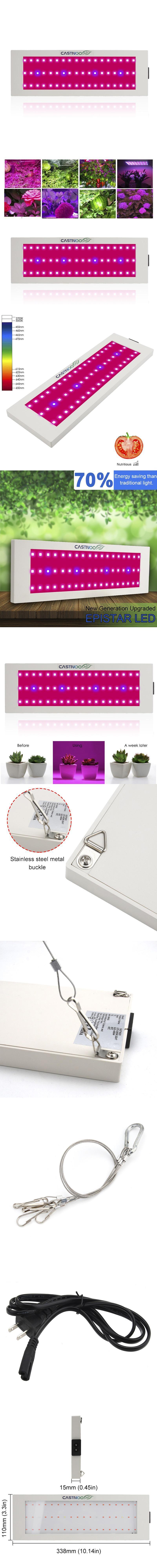 300W 54 LED Grow Light Full Spectrum Indoor Hydro Veg Flower Grow Panel JJ